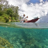 Over/Under Papuan Canoe
